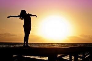 woman joy sun pixabay
